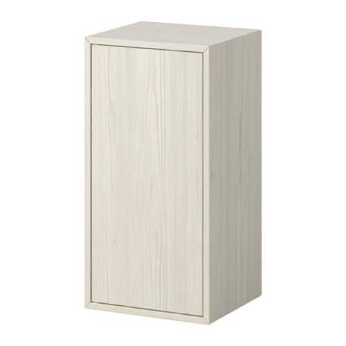 IKEA - VALJE, Wall cabinet with 1 door, larch white, , You can create your own unique solution by freely combining cabinets of different sizes, with or without doors and drawers.Assembly is quick and easy, thanks to the wedge dowel that clicks into the pre-drilled holes.