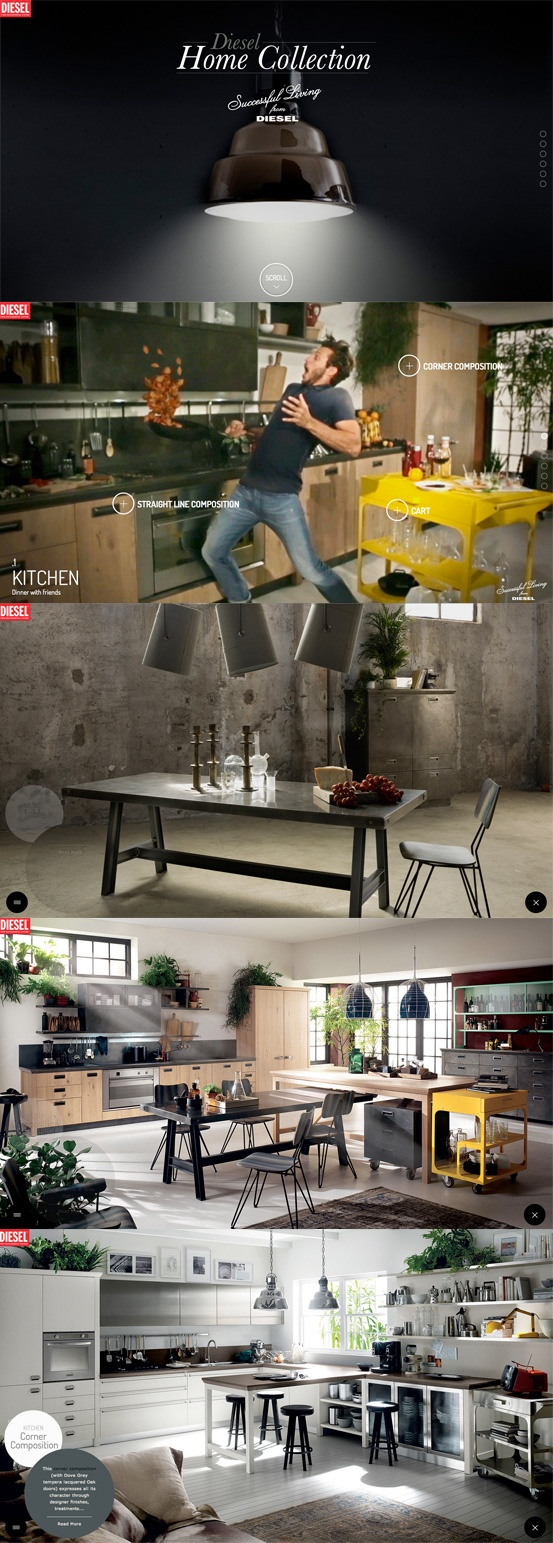 Diesel Home #Responsive Design #HTML5 More on the Responsive Design Knowledge Hub: http://www.ugurus.com/responsive-design-examples