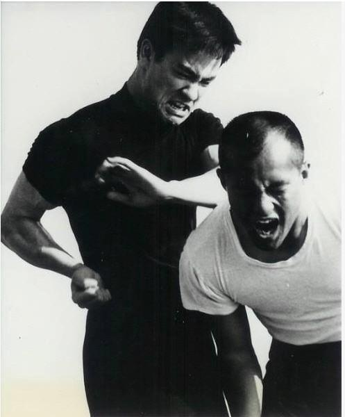 Masters Bruce Lee and his top student, Master Dan Inosanto