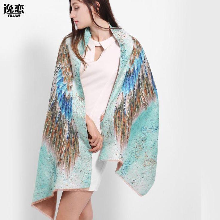 """Cashmere Colourful Wing Design Women's Scarf / Cape / Pashmina  Size:  175 cm x 60 cm (5ft 8.9"""" x 1ft 11.6"""")"""