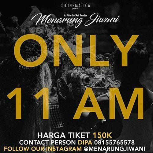 @Regrann_App from @menarungjiwani -  Mulai besok #MenarungJiwani hanya tayang pukul 11 Pagi di Denpasar Cineplex. Hayo silahkan yang belum nonton pesan tiketnya yaaa!  Silahkan repath atau tag untuk ajak teman nonton! - #regrann
