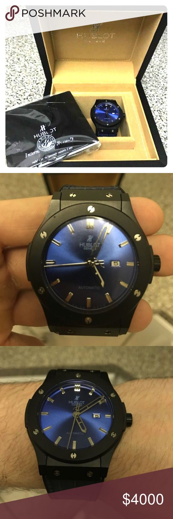 HUBLOT WATCH FOR SALE LOW PRICE$ Hublot watch for sale. All the features are in a pic posted with this post. Worn twice and need It gone asap. $7,000 watch for low pricing. PRICE IS NEGOTIABLE !!!! (Just in case you are wondering why I'm selling a watch for this cheap is because of school purposes and i need the money) Hublot Accessories Watches