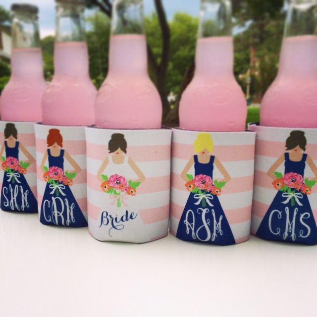 personalized bridesmaid koozies- cute way to ask bridesmaids