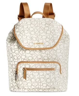 Calvin Klein Monogram Backpack | macys.com