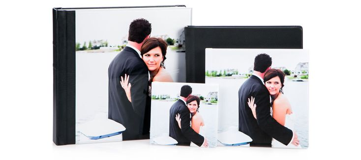 Save time and money by creating your own wedding albums. Less expensive than buying from a professional photographer with the same high quality.