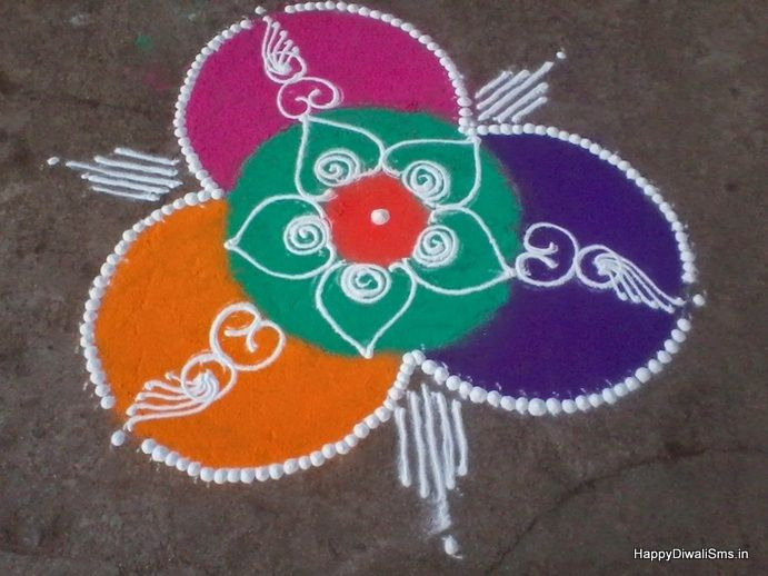 25 best ideas about easy rangoli patterns on pinterest On home made rangoli designs