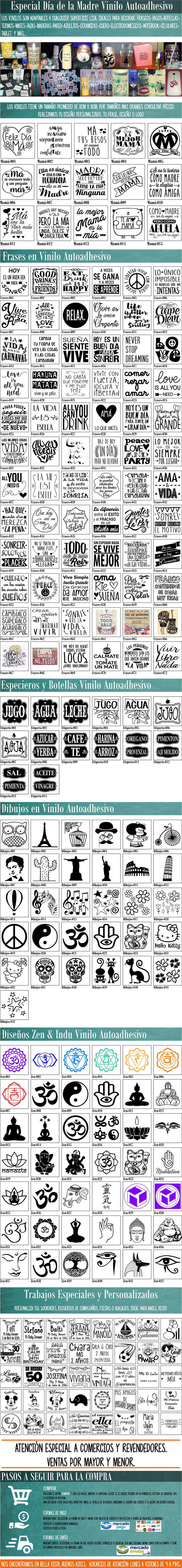 Dia De La Madre Vinilos Autoadhesivo Frases Personalizados - $ 10,00