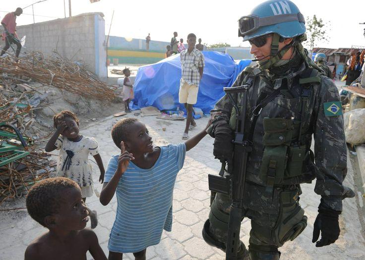 UN Peacekeeping Soldier in Haiti.
