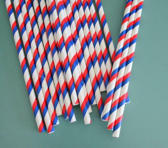 Buffalo Bills football party straws
