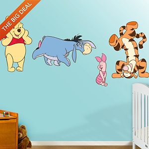 Winnie The Pooh Fan? Put Your Passion On Display With A Giant Winnie The  Pooh Collection Fathead Wall Decal!