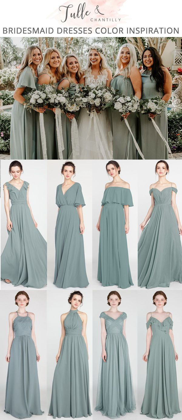 Long Short Bridesmaid Dresses 79 149 Size 0 30 And 50 Colors Summer Bridesmaid Dresses Long Bridesmaid Dresses Dusty Sage Bridesmaid Dress Styles