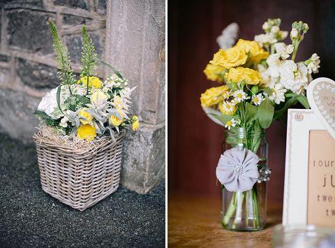 real wedding: classic contemporary yellow & grey marquee wedding {lynsey & adam}