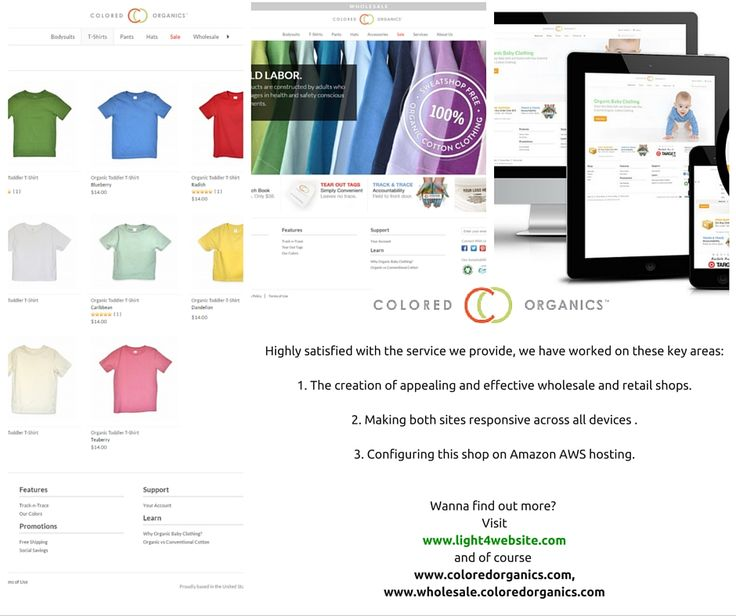 Colored Organics, an online wholesaler and retailer selling organic baby wear that is stylish, colorful, affordable and responsible. This client came to us on the lookout for a developer, who could create an online store (great look,  highly functional and supported by a professional team). We worked with Colored Organics to develop their front-end as well as their back-end and to provide server administration services.