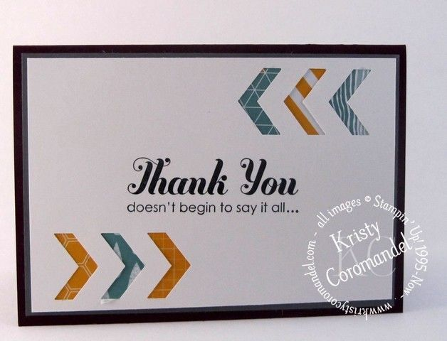 Lots of Thanks, Chevron Boarder Punch,  Written tutorial can be found on the blog