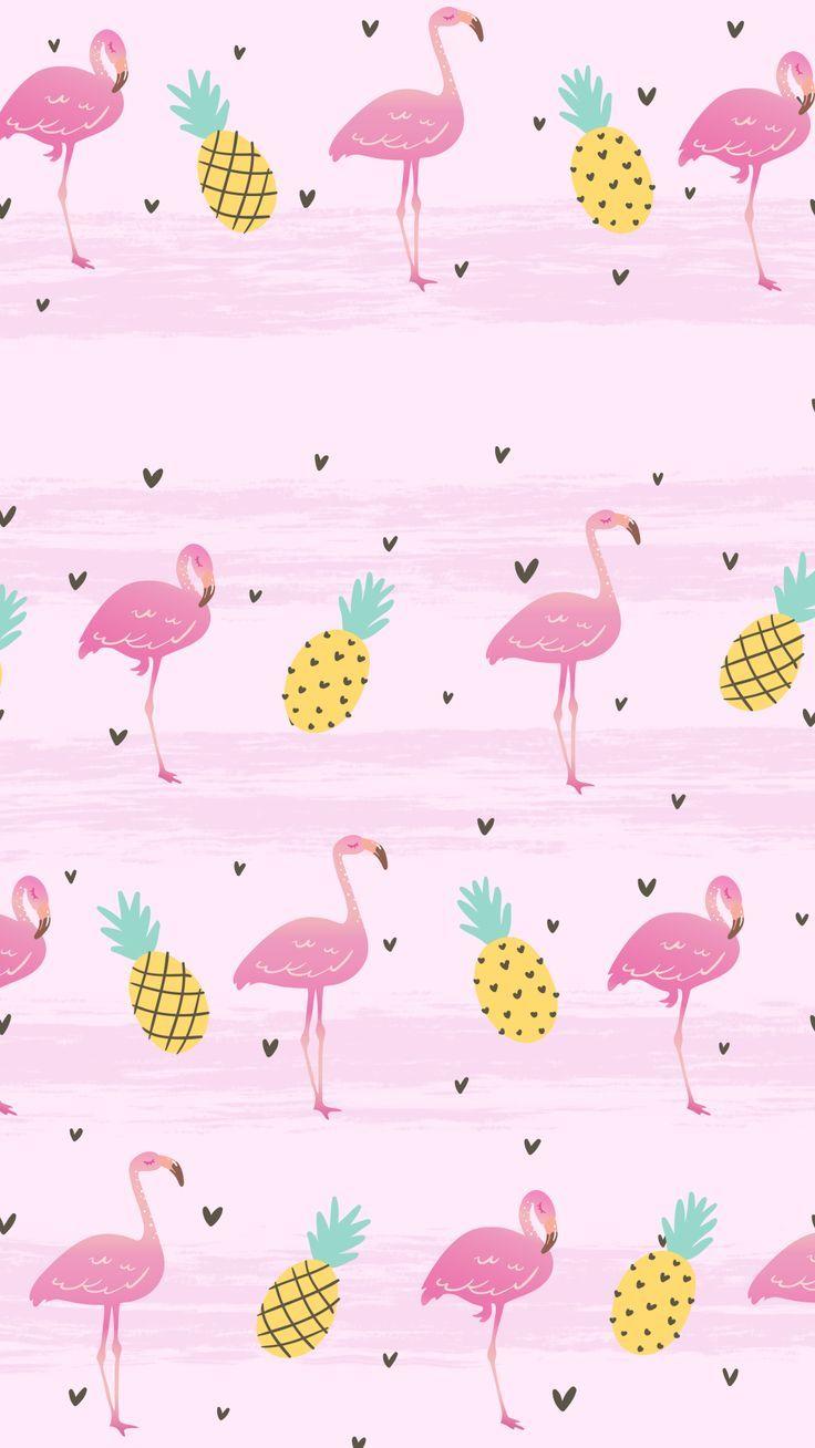 Flamingos Flamingo Lovers Pink Flamingo Pineapple Pastel