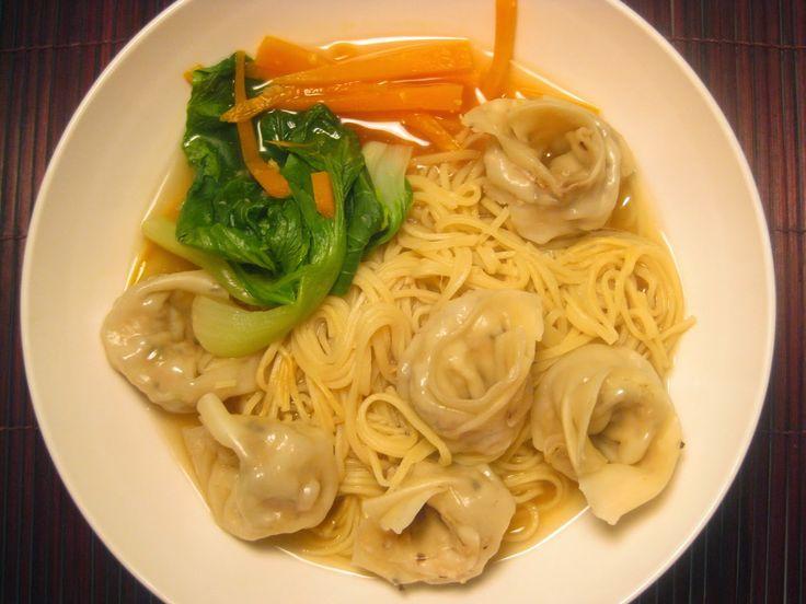 My Thermomix Kitchen -  Chicken and Shitake Wonton Noodle Soup using Varoma