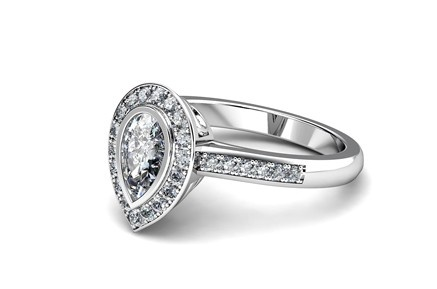 14kt semi-mount diamond engagement ring by T Jewellers