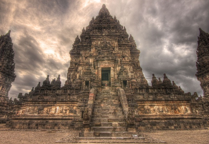 Prambanan is one of temple placed in Yogyakarta. This is a Hindhuism temple. You could see every traces in the reliefs at the wall.