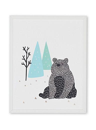 Le tableau ours solitaire 11x14 pouces | Simons