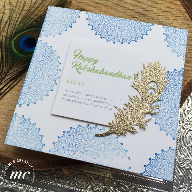 Handmade Rakshabandhan/Rakhi Cards by ManisCreativeService on Etsy
