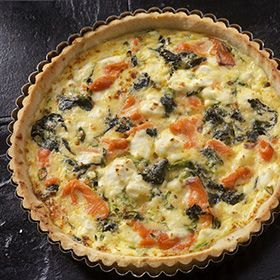 Smoked Salmon and Spinach Quiche, a recipe from the ATCO Blue Flame Kitchen.