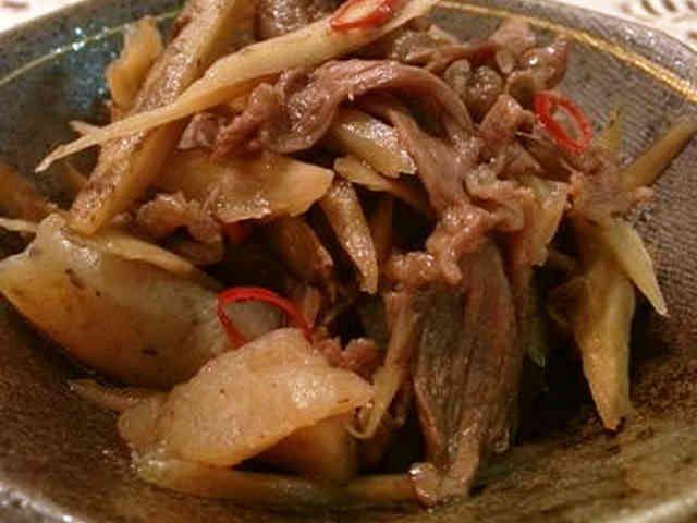 蒟蒻入り☆牛肉ごぼうのしぐれ煮風の画像