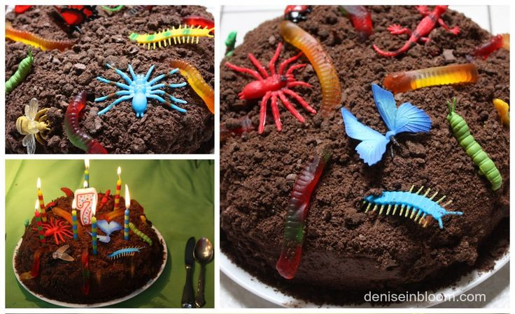 Creepy Crawly Dirt Cake | Play with your food | Pinterest