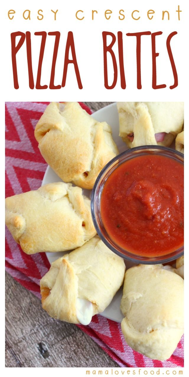 Mama Loves Food!: Easy Crescent Pizza Bites