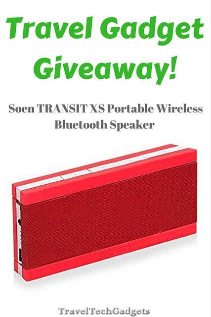 Travel Gadget GIVEAWAY - Portable Travel Bluetooth Speaker Free! |Travel Tech Gadgets