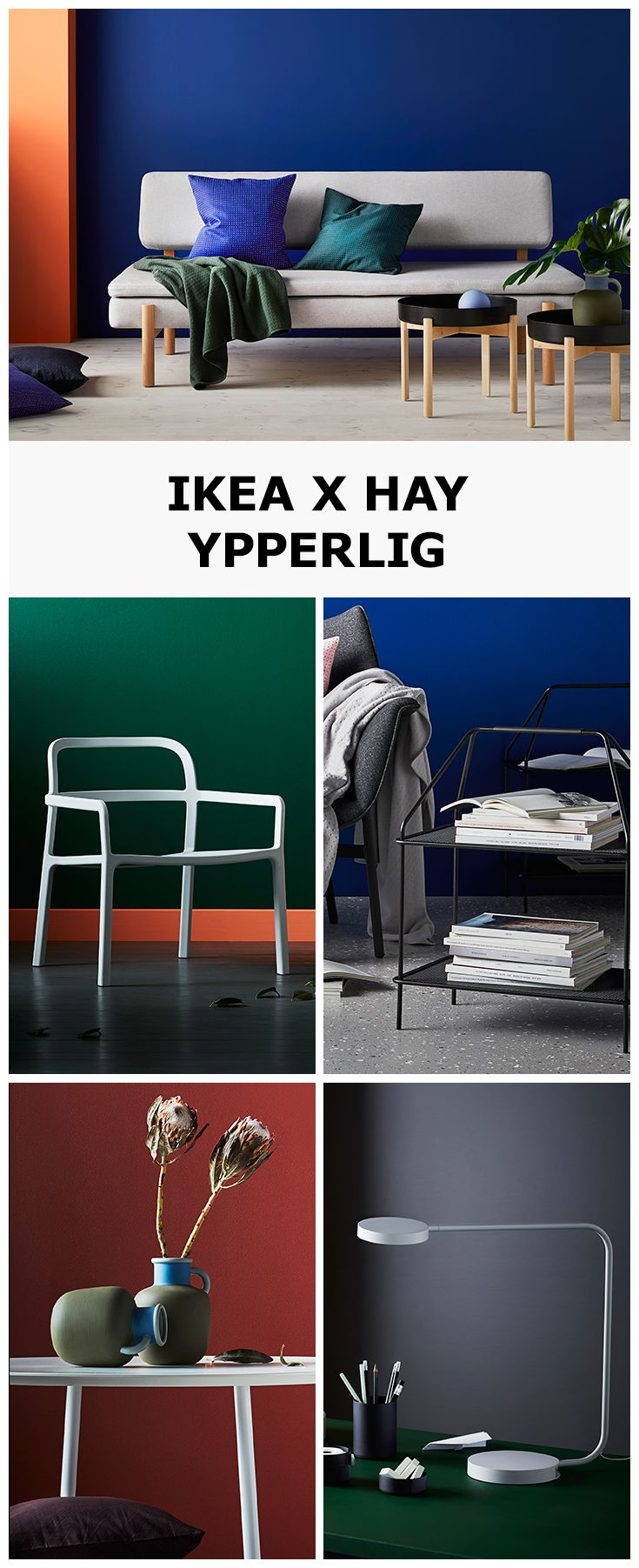 We're excited to introduce YPPERLIG, our new collaboration with Danish design company Hay. The result is a collection of contemporary yet ageless statement pieces. From comfy sofas to smart and practical coffee tables, each have been made by combining high quality materials, colours and production techniques with modern needs and wants in mind.