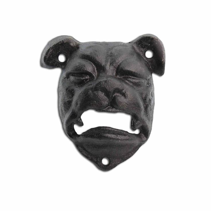 Bottle Opener Cast Iron Bull Dog Head Black Wall Mounted Bar Beer Opener #Gardens2you