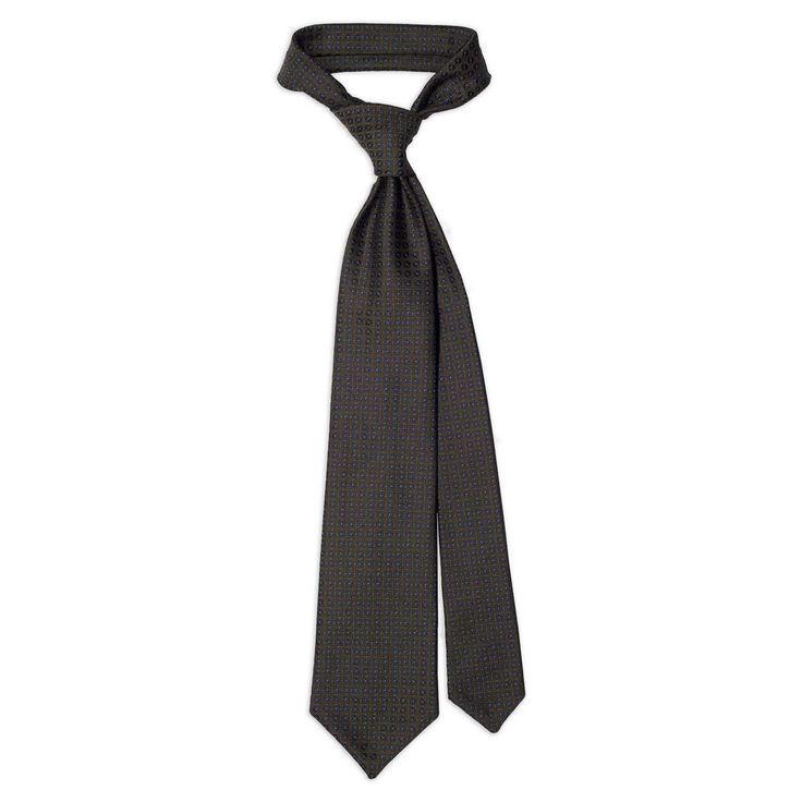 Green Jacquard Silk Tie