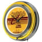 14 in. Cleveland Cavaliers 2016 NBA Champions Chrome Double Ring Neon Wall Clock, Yellows/Golds