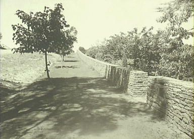 Everglades 1933 - 1943, terrace, drive and dry stone wall