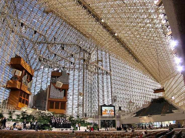 Inside The Crystal Cathedral in Garden Grove, Orange County, California by Philip Johnson