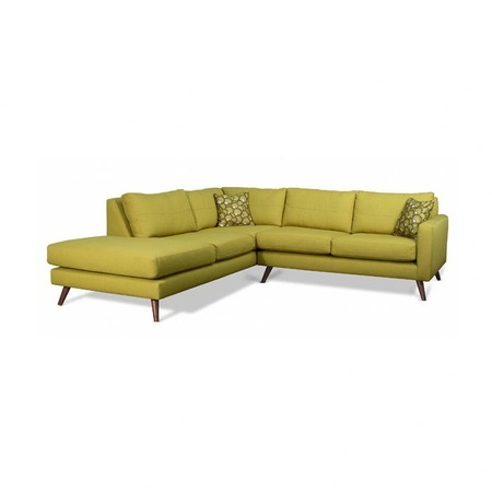 Oliver 120quot chesterfield right facing sectional sofa in for Sectional sofa joss and main