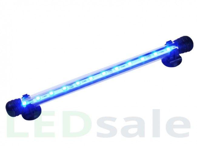 Vattentät LED Akvarielampa - Vit och Blå