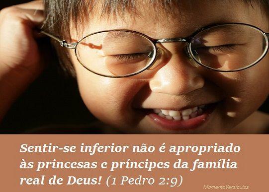 Momento Versículos: SENTIMENTO de INFERIORIDADE (1 Pedro 2:9)