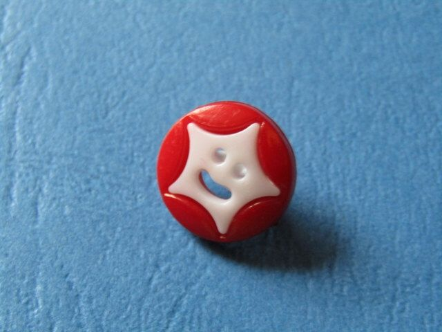 A personal favourite from my Etsy shop https://www.etsy.com/ie/listing/479127005/13mm-red-round-shank-button-with-white