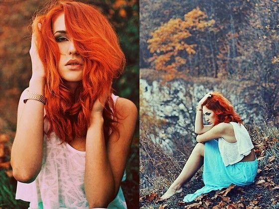 models lookbook karusza redhead hairstyle redhair h&m zara fashion gold casio