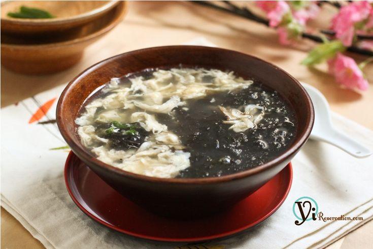 Seaweed Egg Drop Soup (紫菜蛋花湯)   Yi Reservation