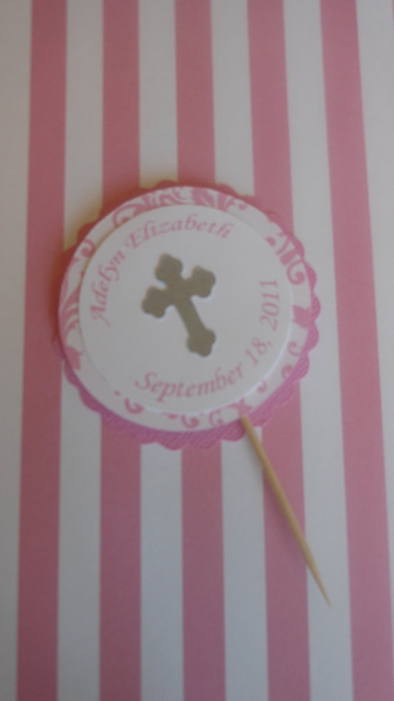 Baptism  cupcake topper by ASweetCelebration on Etsy, $12.00