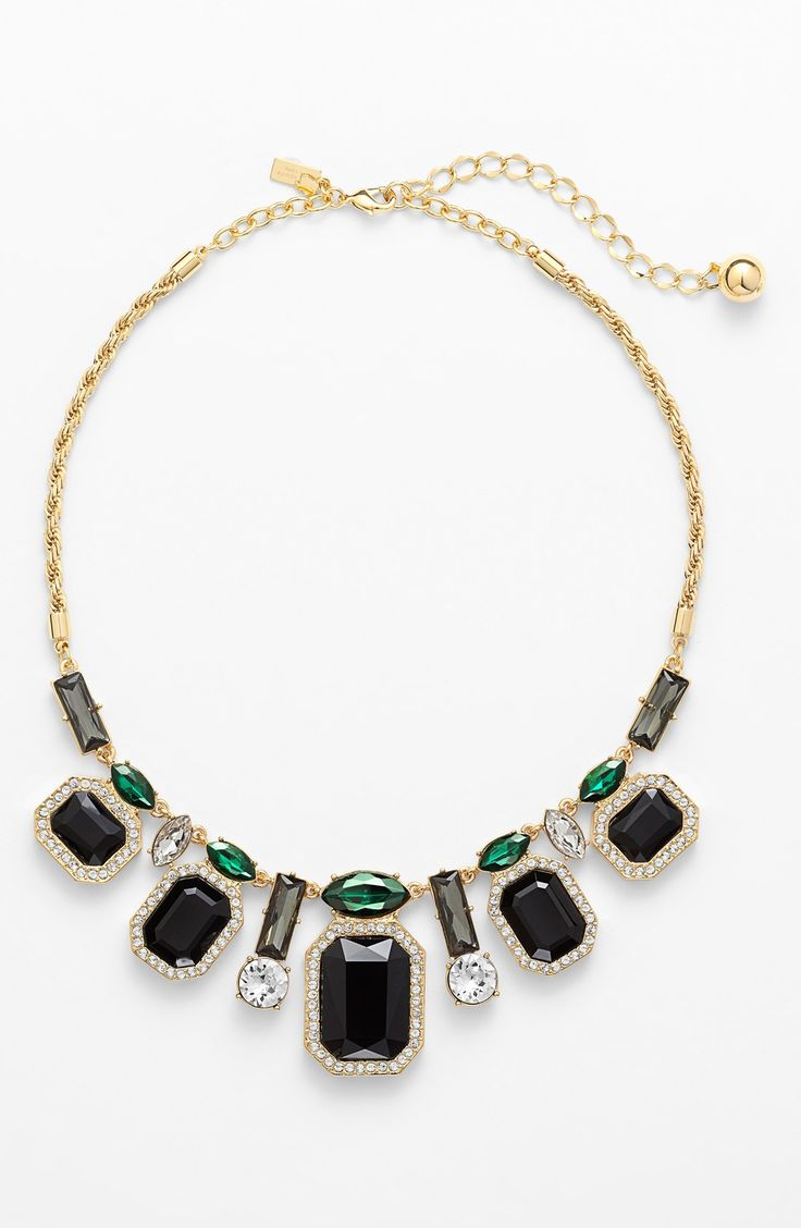 Pairing this stunning 'art deco gems' statement necklace with a LBD.