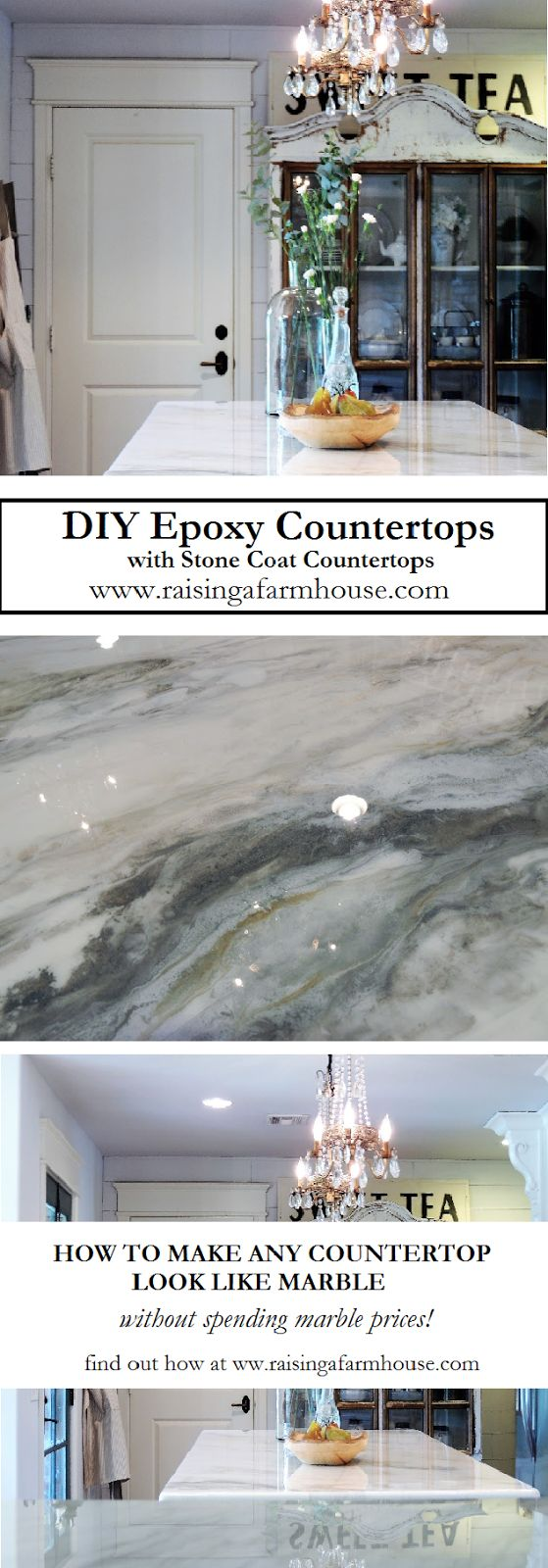 DIY Epoxy Countertops is a great alternative for covering ugly countertops, not only are they beautiful, they are scratch and stain resistant, stain proof, food grade, seamless and 100% customizable! Visit Raising a Farmhouse for her review on this amazing product!