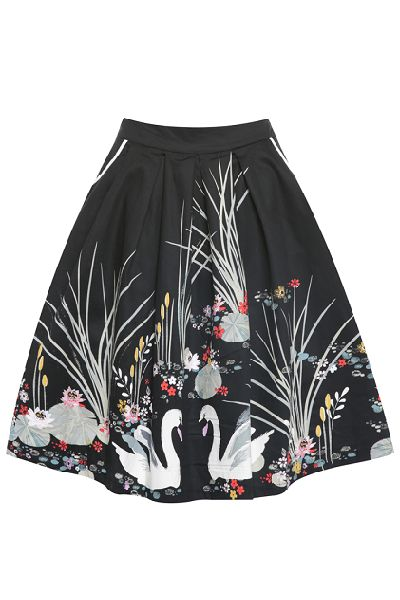 Lindy Bop Daniella Swan Skirt