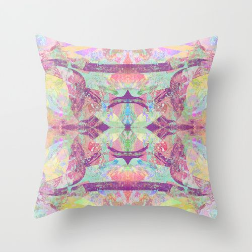 Duality Throw Pillow by Peta Herbert | Society6 | $20