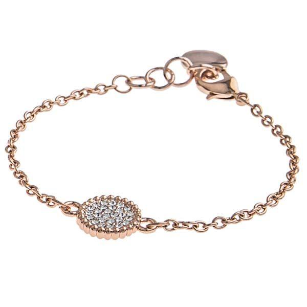 SNÖ Of Sweden - Versaille Rose/Clear Chain Bracelet - 592-3200255