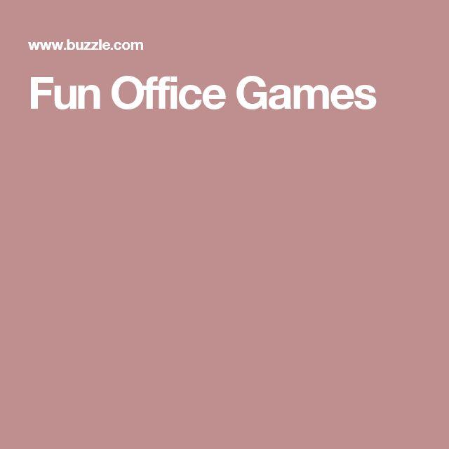 fun office games