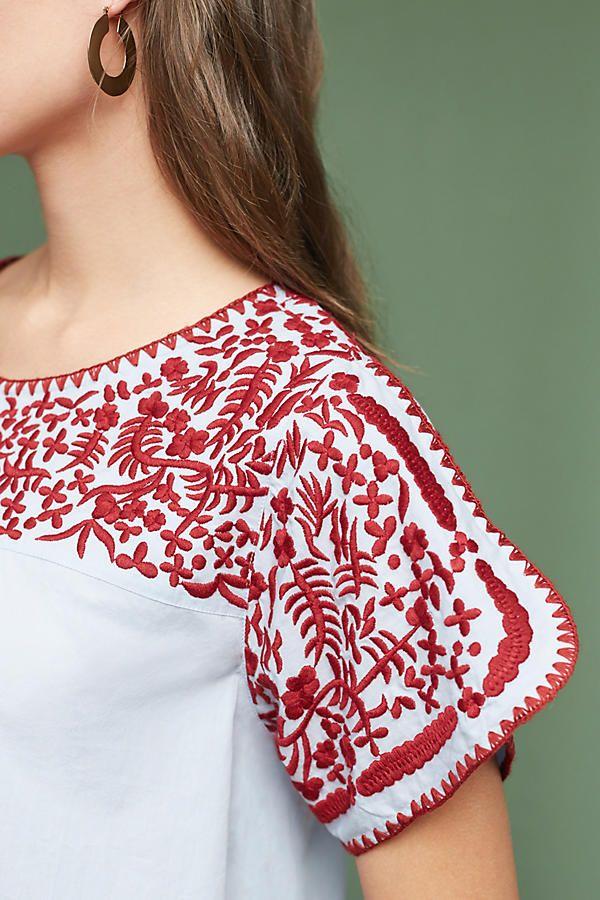Slide View: 2: Tillie Embroidered Blouse