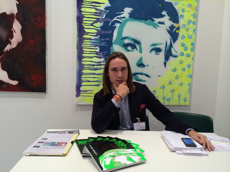 Art fair exhibition  Jacopo at work